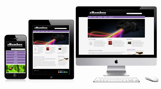Zbamboo Responsive HTML5 Template HTML5xcss3